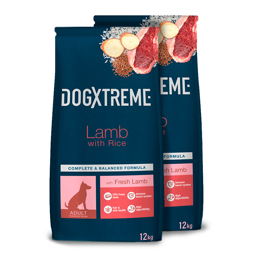 Dogxtreme Cordero Pack Ahorro 2x12Kg image number null