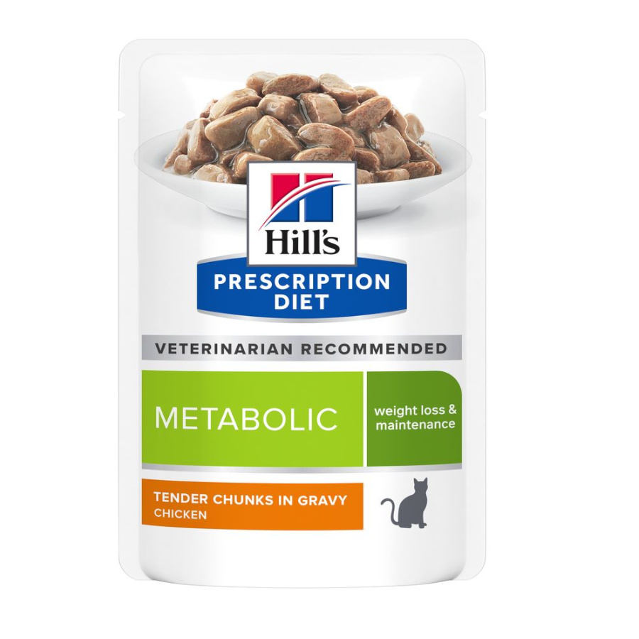 Pack 12 Saquetas Hill's Prescription Diet Metabolic Feline 85 g, , large image number null