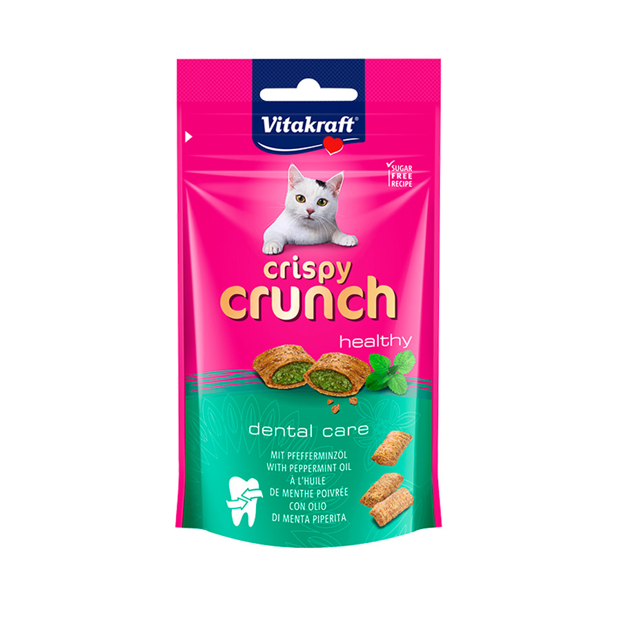 Snack Vitakraft Crispy Crunch Dental para gatos 60 gr, , large image number null