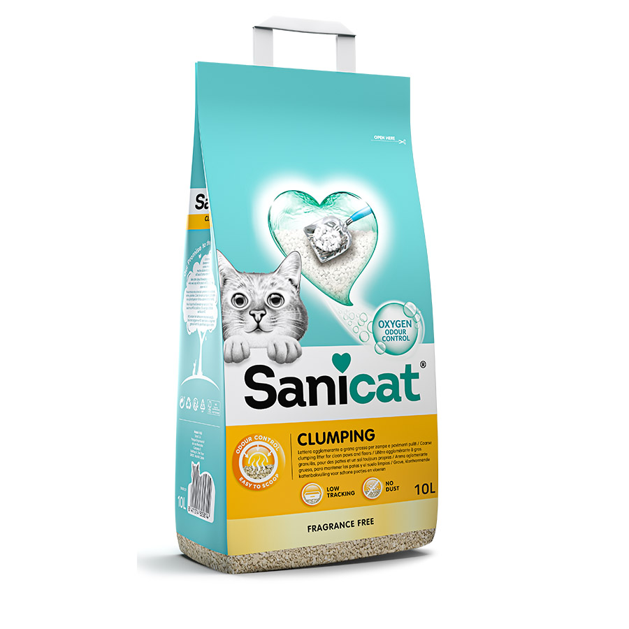 Areia Absorbente Sanicat Clumping 10 l, , large image number null