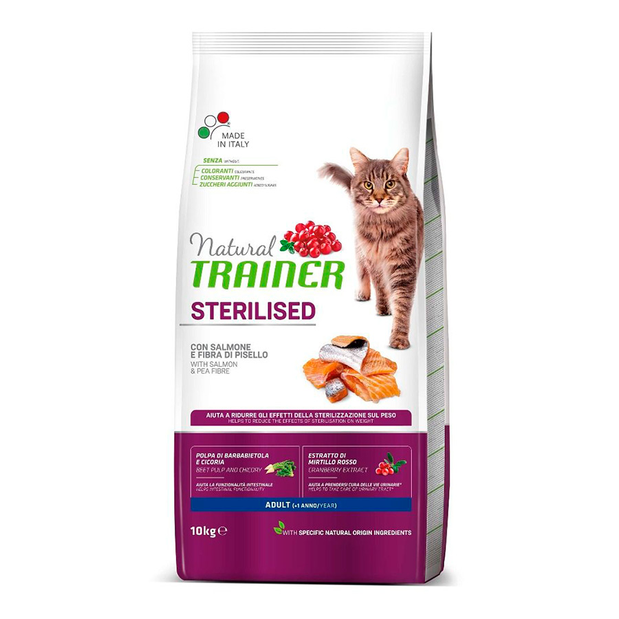 Pienso Trainer Natural Cat Adult Sterilised Salmón image number null